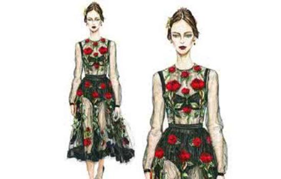 服装设计图怎么画人体