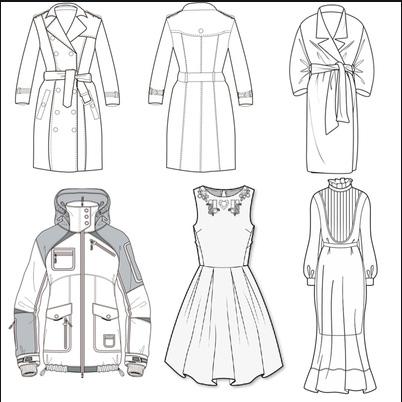 绘制服装款式图需要注意的几个问题