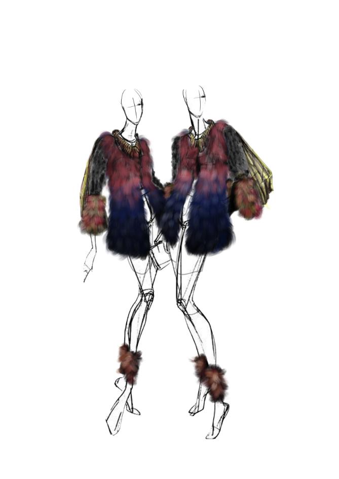 服装PS绘制作品