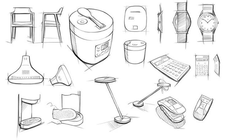 手绘在不同专业作品集中的作用