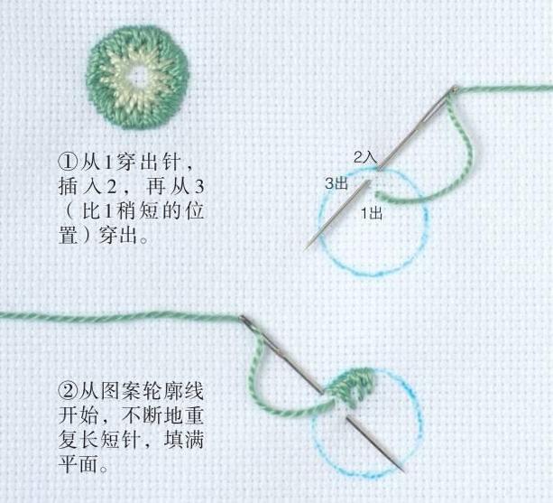 """5种基本绣法,想学刺绣的新手千万别错过"""""""