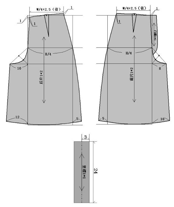 基本款裙裤的结构制图